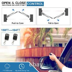 DCHOUSE Solar Automatic Gate Opener Dual Swing Gate Opener 880lbs Kit WithKeypad