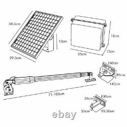 DCHOUSE Solar Single Architectural Series Automatic Gate Opener Kit Easy Install