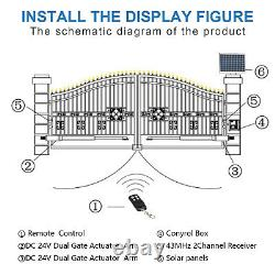 DC HOUSE Heavy Duty Auto Gate Opener Kit Dual Swing Gate Openers 24V Motor