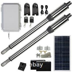 DC HOUSE Solar Auto Dual Swing Gate Opener Kit 24V Motor with 50M Controller