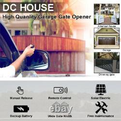DC Single Solar Auto Gate Opener Kit 600KG Swing Gates With Waterproof Keypad