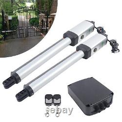 Double Solar Auto Gate Opener Kit 300KG Swing Gates With Remote control IP44 USA