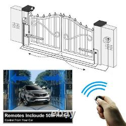 Dual Solar Gate Opener Kit 600KG Swing Gate Up to 16 feet/1320 Pound With Keypad