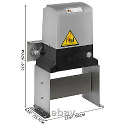 Electric Sliding Gate Opener 1400Lbs Automatic Motor Remote Kit Heavy Duty