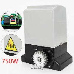 Electric Sliding Gate Opener Automatic Motor Remote Kit 2000KG+ 6x 1m Rail Track