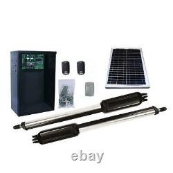 Estate Swing Dual Swing Automatic Gate Opener Kit with 10-Watt Solar Panel