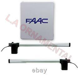 FAAC 412 Dual Swing Automatic Gate Operator Residential Gate Opener Kit