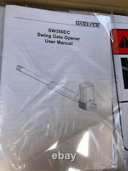 GATEXPERT Dual Swing Gate Opener for Swing Gates SW350DC Operator Kit