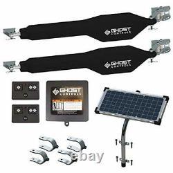 Ghost Controls TDS2XP Heavy-Duty Solar Dual Automatic Gate Opener Kit for Swing