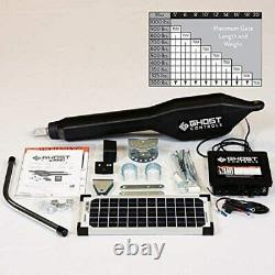 Ghost Controls TSS1XP Heavy-Duty Solar Single Automatic Gate Opener Kit