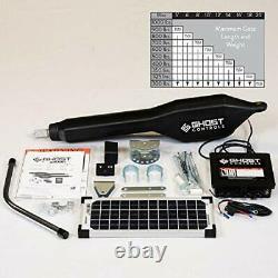 Ghost Controls TSS1XP Heavy-Duty Solar Single Automatic Gate Opener Kit for Swin