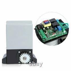 Heavy Duty 2700lb Sliding Electric Gate Opener Automatic Motor Remote Control 6m