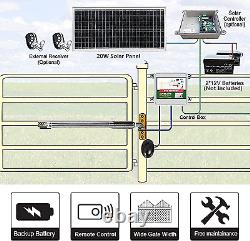 Heavy-Duty For Dual Swing Automatic Solar Gate Opener Kit With Waterproof Keypad