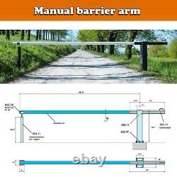 Manual Barrier Arm Complete kit 16ft Aluminum Arm-Counter weight receiver stand