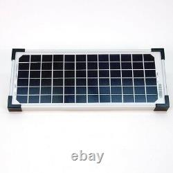 Mighty Mule 10-Watt Solar Panel Kit Charge Battery for Electric Gate Opener NEW