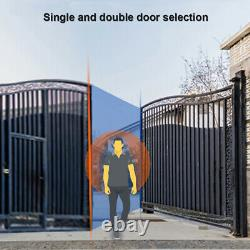 NEW 24V Auto Electric Powered Swing Gate Opener Kit With Remote Control IP44 US