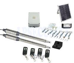 NSEE PKM-C01-7 500KG/1200LB Double Opener Solar Swing Gate Door Operator Steel