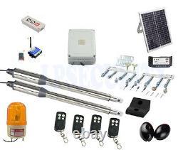 NSEE PKM-C01-9 500KG/1200LB Double Opener Solar Swing Gate Door Operator Steel