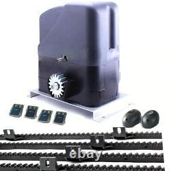 NSEE S800K-2 800KG 1800LBS 12/24V Slide Gate Door Opener Racks Solar Compatible