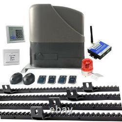 NSEE S800K-6 800KG 1800LBS 12/24V Slide Gate Door Opener Racks Solar Compatible