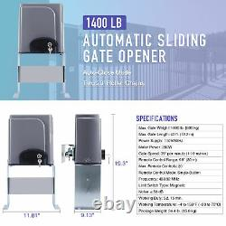 New Automatic Opening Kit Sliding Gate Opener Driveway Security 1400 lbs Door