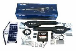 Quiet, Fast Solar Dual Automatic Gate Opener Kit for Swing Gates Up to 20 Feet