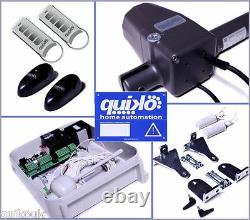 Quiko Neo Automatic Remote Electric Gate Opener Kit Dual Rams 2 Remotes