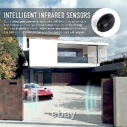 Secondhand Automatic Sliding Gate Opener Kit w Sensor Chain Driveway 1400lbs