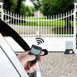 Sliding Electric Gate Opener 2600lb Automatic Motor Remote Kit Heavy Duty Chain