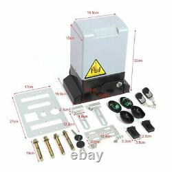 Sliding Electric Gate Opener 4000lbs Automatic Motor Remote Kit Heavy Duty