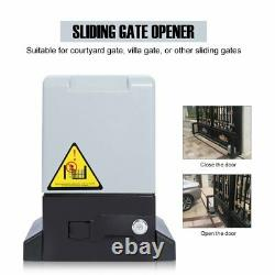 Sliding Electric Gate Opener 5300lbs Automatic Motor Remote Kit Heavy Duty