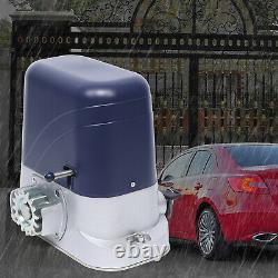 Sliding Gate Opener 2900lbs Automatic Electric Motor Driveway Remote Kit+4m Rail