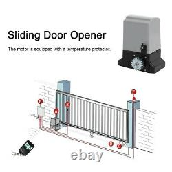 Sliding Gate Opener Electric Automatic Remote Control Copper Core Motor Kit 1.2T
