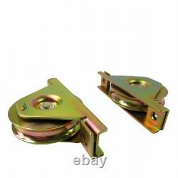 Sliding Track Wheels Guide Roller Gate Opener Hardware Accessories Kit Stopper