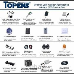 TOPENS AD8 Automatic Gate Opener Kit Heavy Duty Dual Gate Operator for Dual S